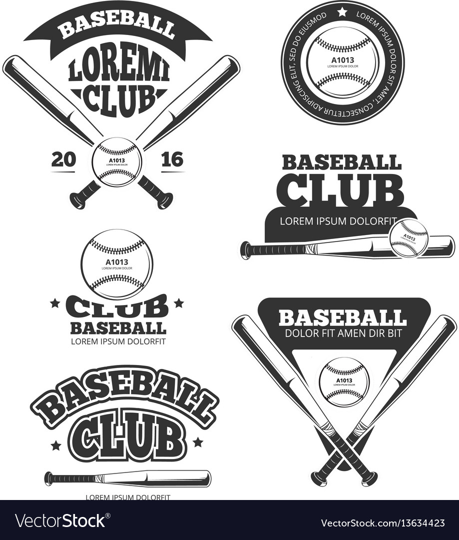 Vintage baseball sports old logos and.