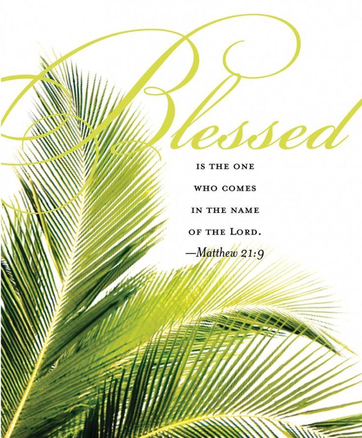 Hosanna Palm Sunday Clip Art.