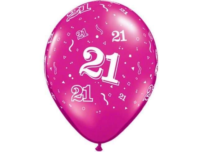 21st Birthday Balloons.
