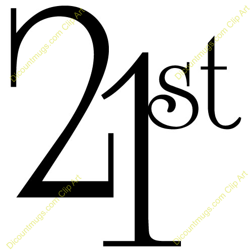 Number 21 Clipart.