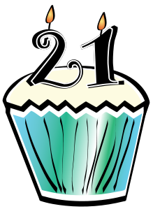 21st Birthday Clipart.
