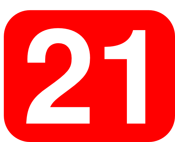 Red Rounded Rectangle With Number 21 Clip Art at Clker.com.