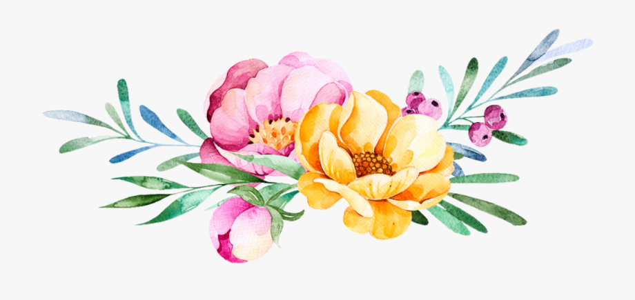 Transparent Flower Watercolor Png , Transparent Cartoon.
