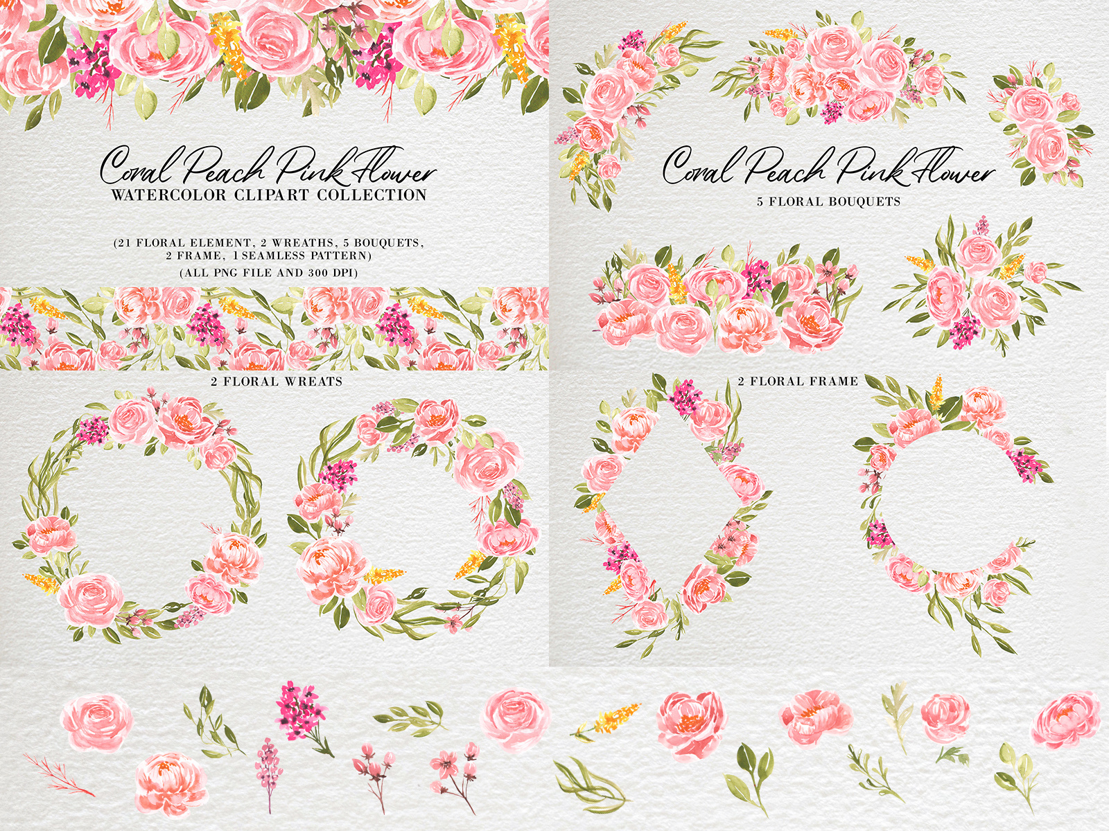 Coral Peach Pink Flower Watercolor by OrchidART on Dribbble.