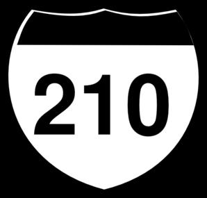 Interstate Sign I 210 Clip Art at Clker.com.