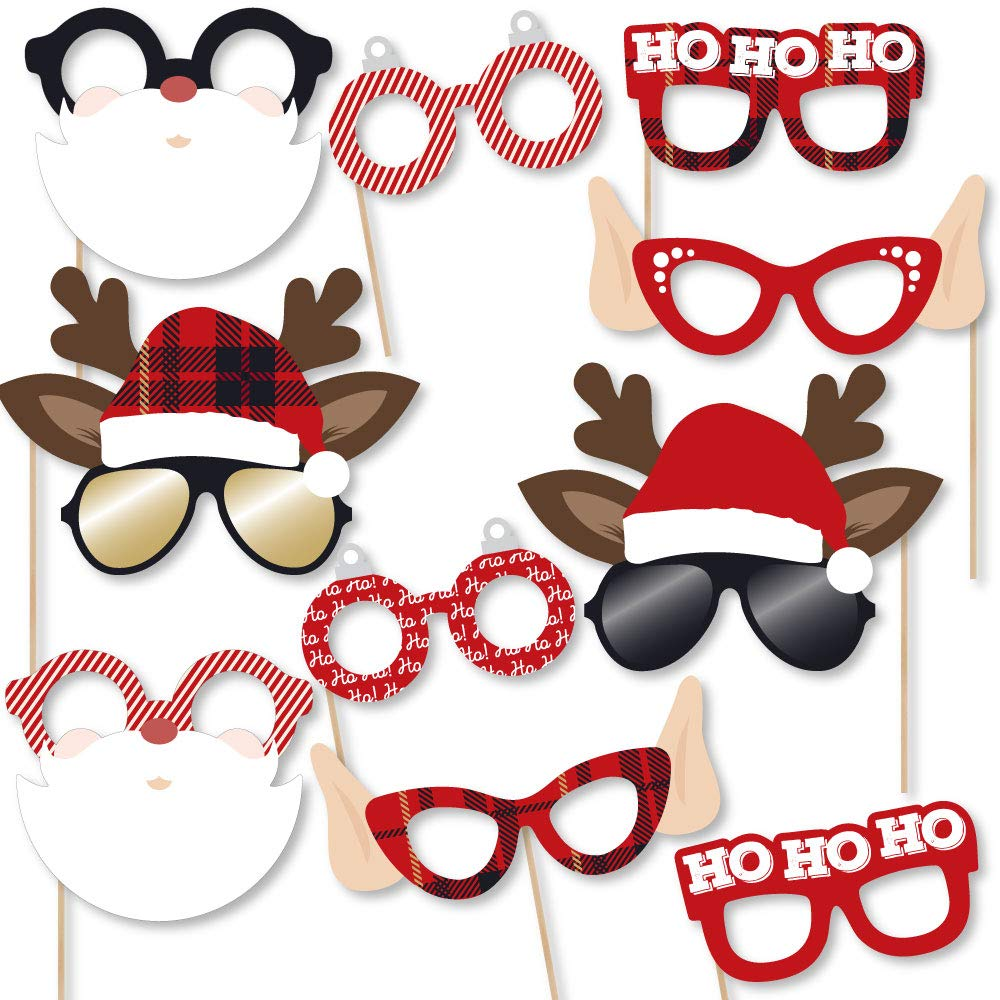 Amazon.com: Big Dot of Happiness Jolly Santa Claus Glasses.
