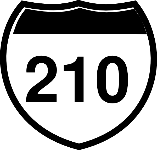 Interstate Sign I 210 Clip Art at Clker.com.
