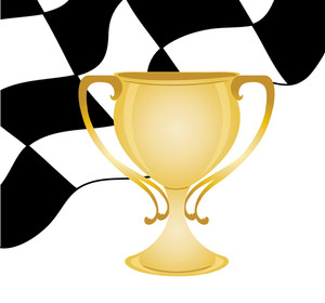 Auto Racing Clipart Image.