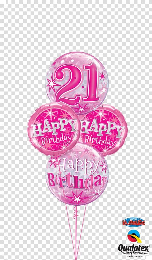 Mylar balloon Birthday cake Flower bouquet, 21st birthday.