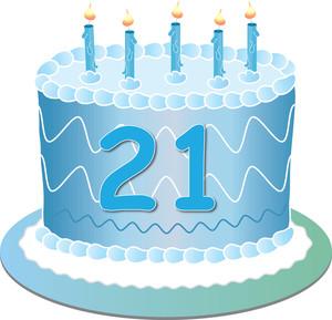 21st Birthday Balloons Clipart.
