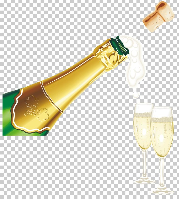 New Year Champagne With Glasses PNG, Clipart, Birthday.