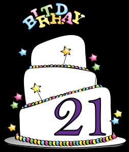63+ 21st Birthday Clip Art.