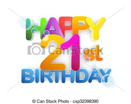 Happy 21st birthday Title, light.
