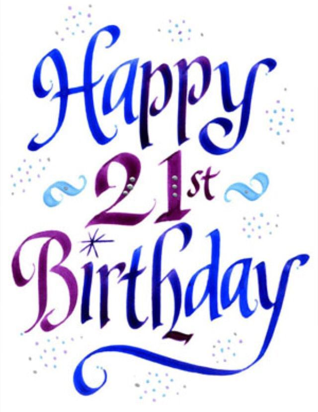 Happy 21st birthday clipart 7 » Clipart Portal.