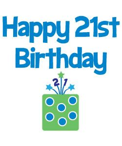 Free 21st Birthday Clipart.
