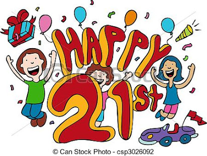 Free clipart images 21st birthday.