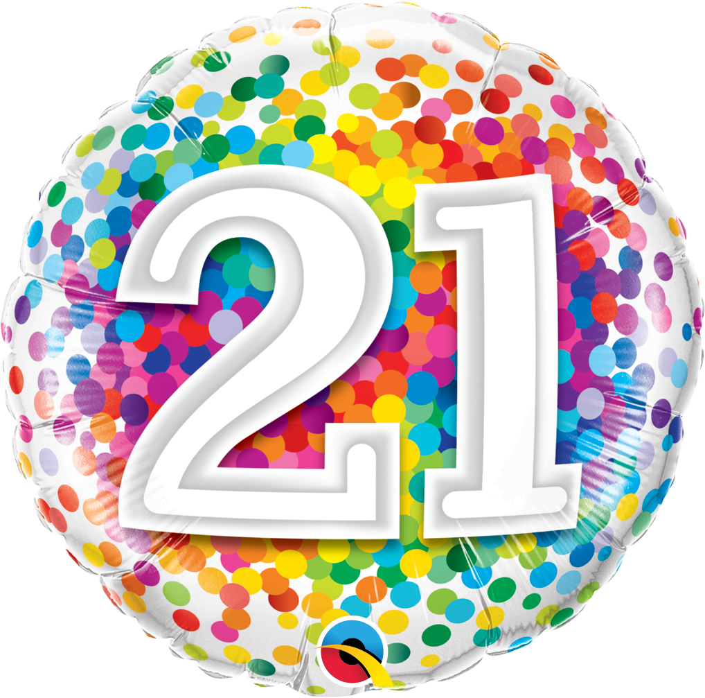 21st Birthday Balloon In A Box.