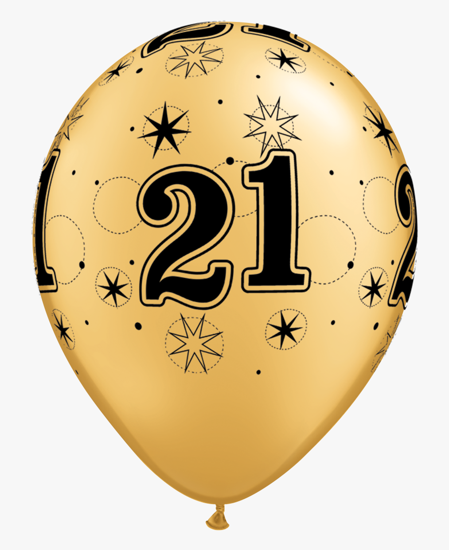Png Gold Balloons 21st Birthday , Transparent Cartoon, Free.