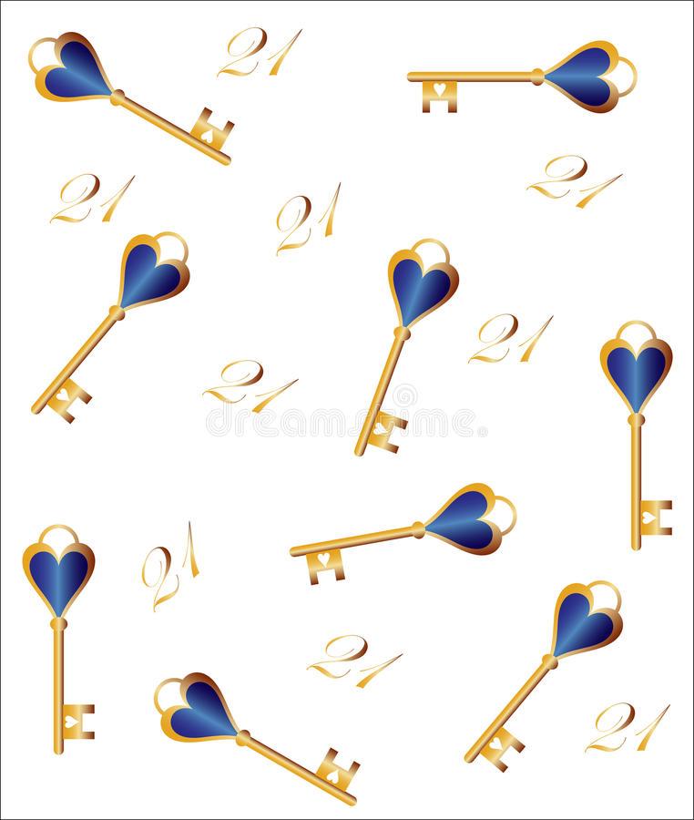 Birthday Key Stock Illustrations.
