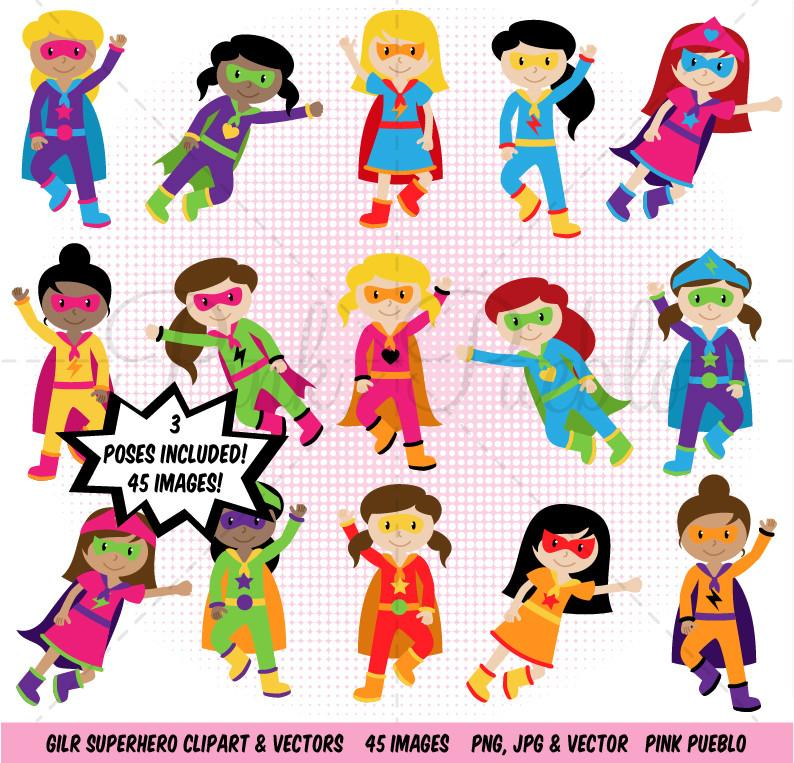 Girl Superhero Clipart & Vectors.