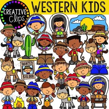 Western Kids Clipart {Cowboy Clipart}.