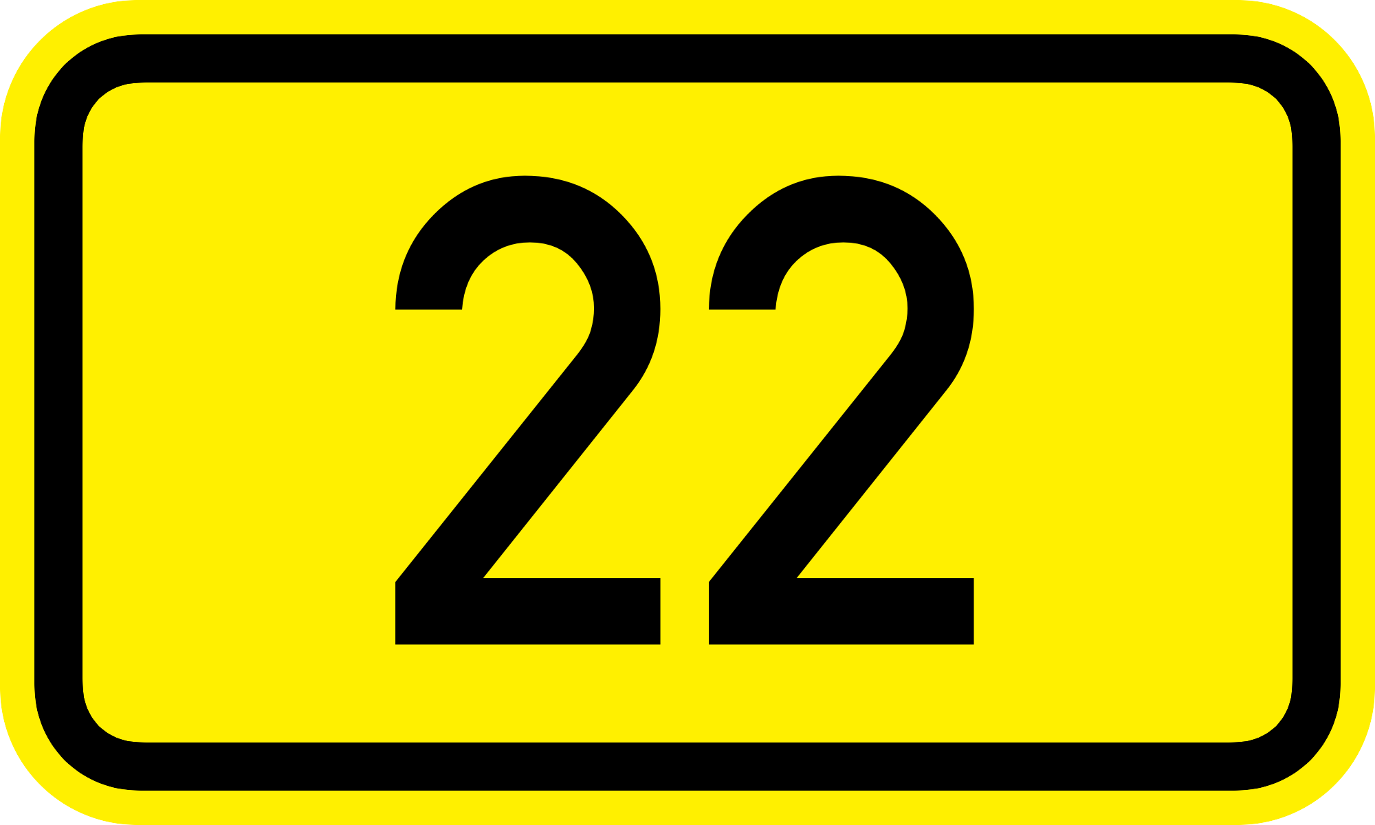 Number 22 clipart.