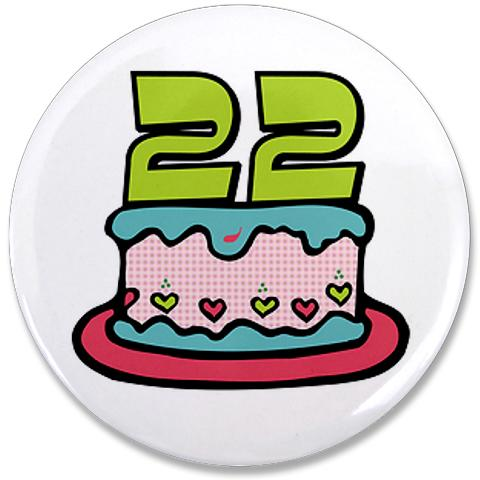 22 Birthday Clipart.