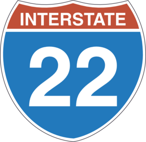 Interstate 22 Clip Art at Clker.com.