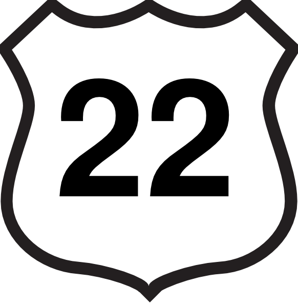Route 22 Sign Clip Art at Clker.com.