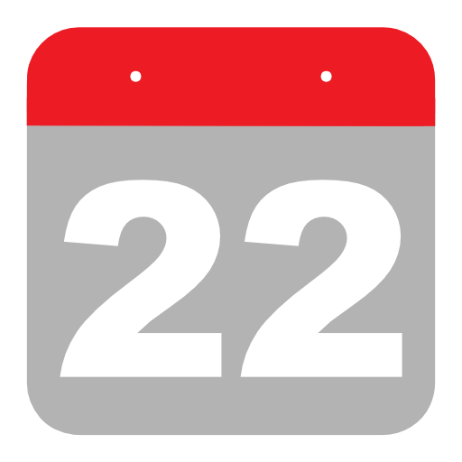 22nd, calendar, day, month Icon Free of Calendar Icons.