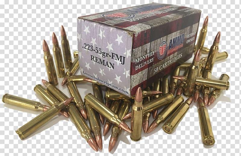 Full metal jacket bullet Ammunition .223 Remington Rifle.