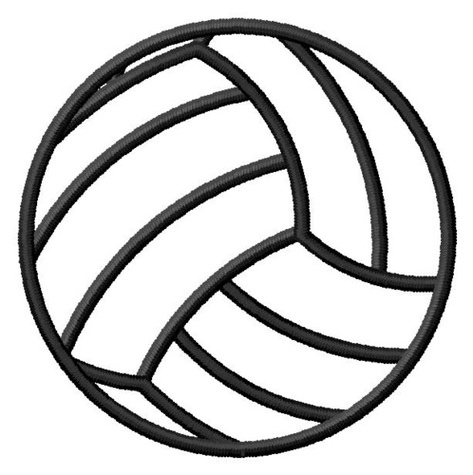 Grand Slam Designs Embroidery Design Volleyball Outline 223.