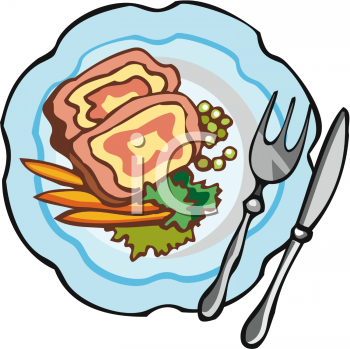 Clip Art Dishes Summer Food Clipart.
