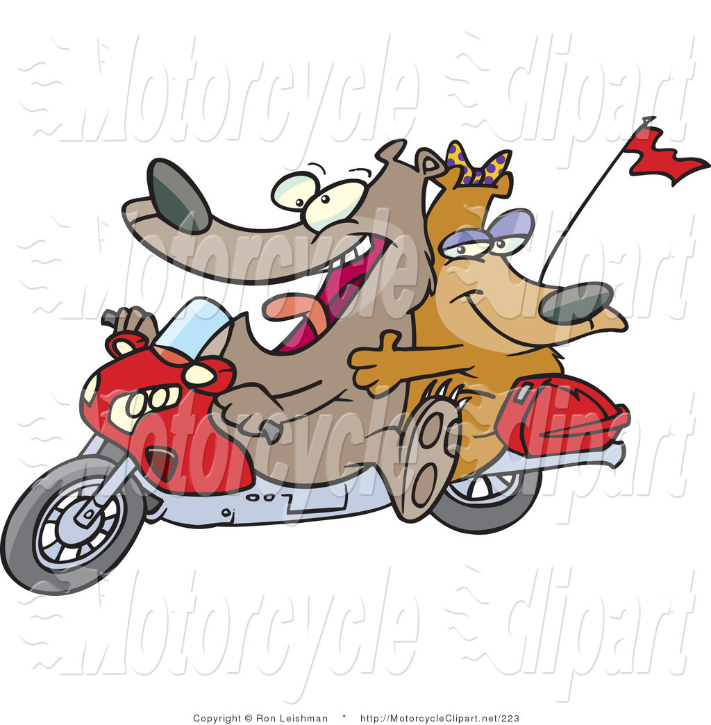 Cartoon Motorcycle Clipart.
