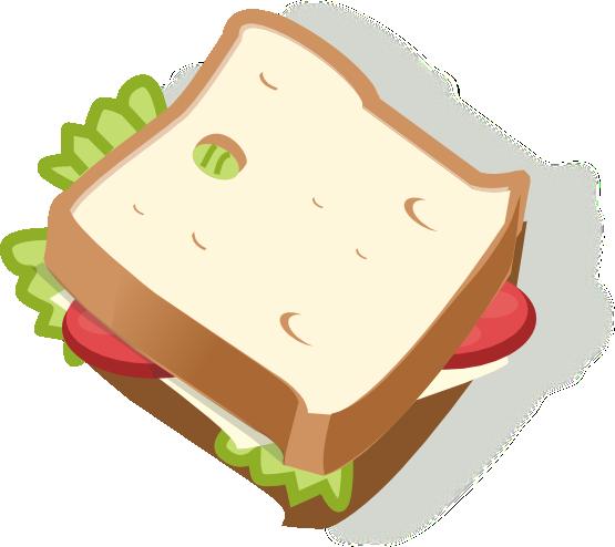 Sandwich Clipart #225.