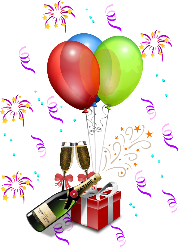 Free Clipart: Champagne Showers 1.