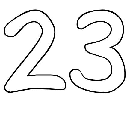 Color by Number Printables Number 23.
