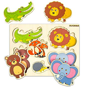 Quokka Wooden Puzzles for Toddlers 1 2 3 Year Olds.