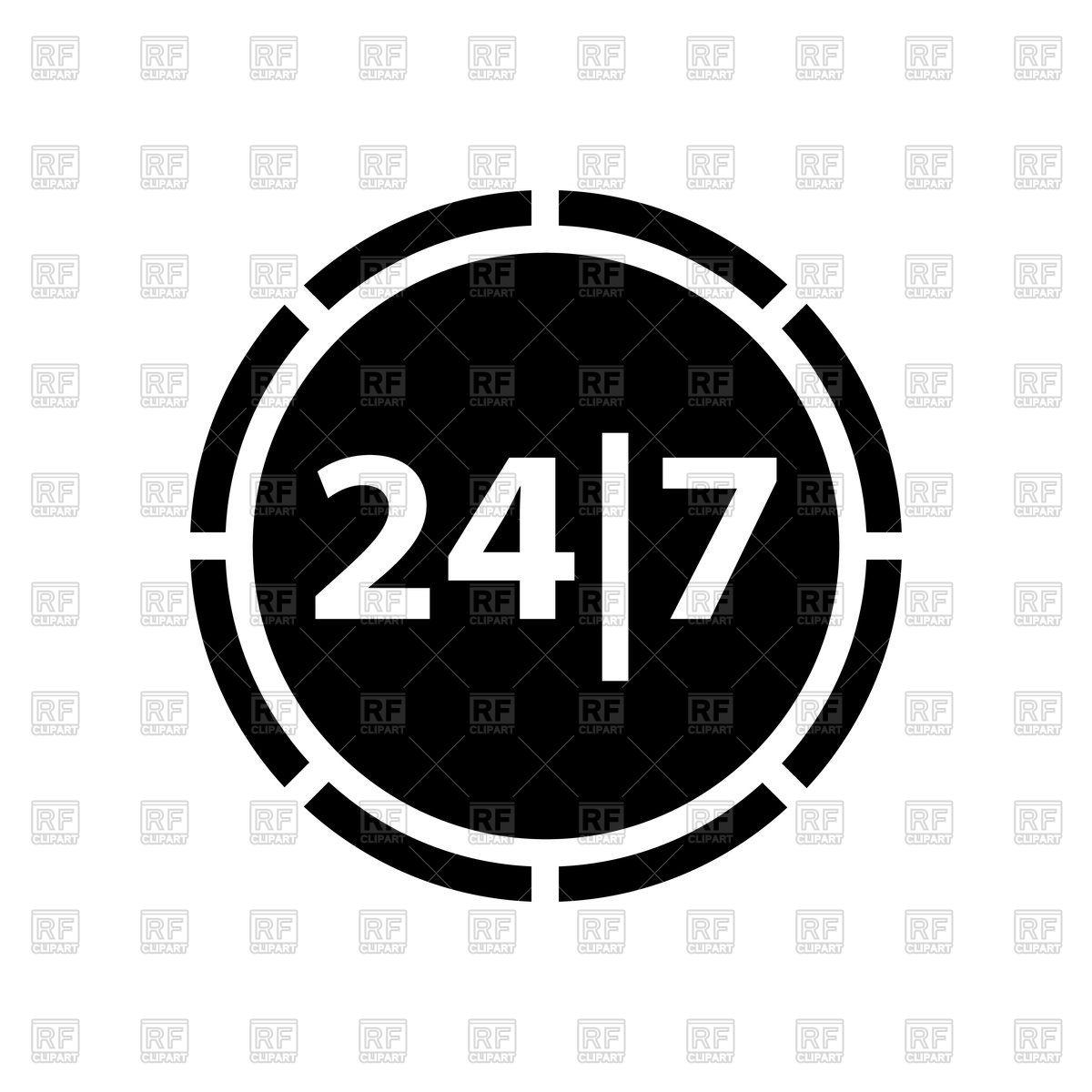 24/7 shopping icon Stock Vector Image.