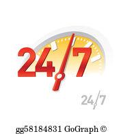 24 7 Clip Art.