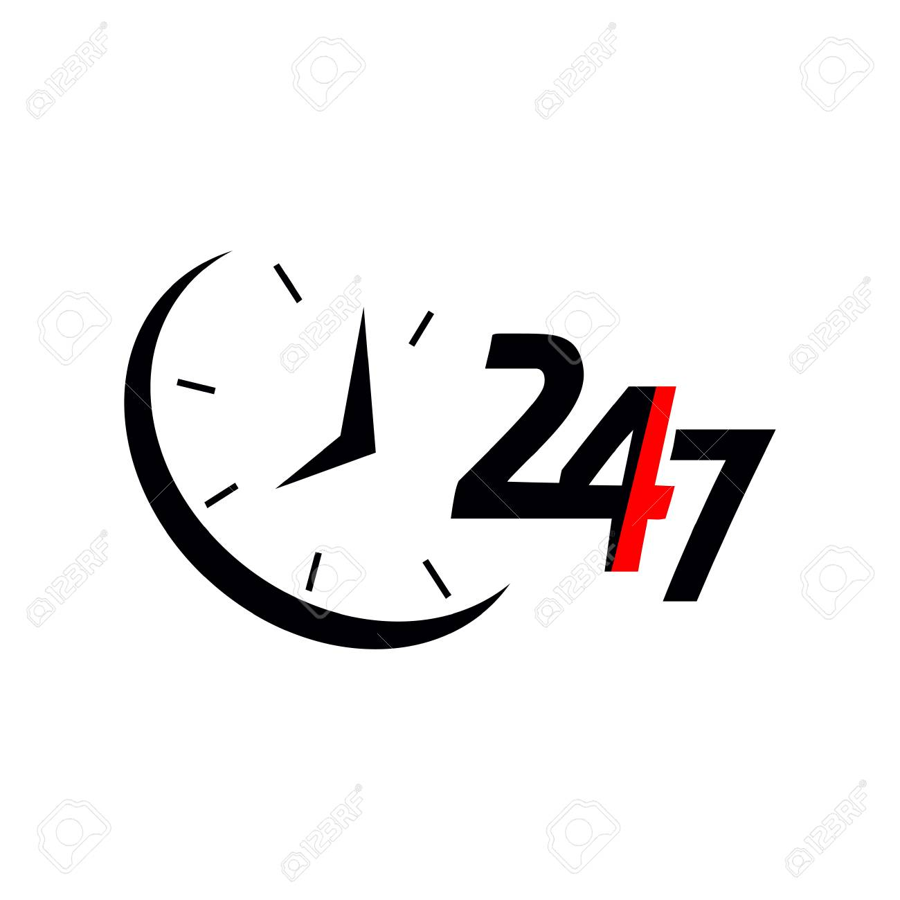 24/7.Service and support for customers. 24 hours a day and 7...