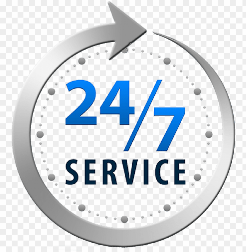24 7 service icon PNG image with transparent background.