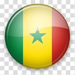 Africa Mac, Senegal flag transparent background PNG clipart.