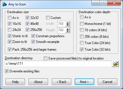 Convert Image to Icon with Any to Icon Converter.