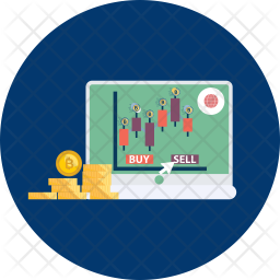 Bitcoin Trading Icon.