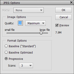 Save images in Photoshop Elements.