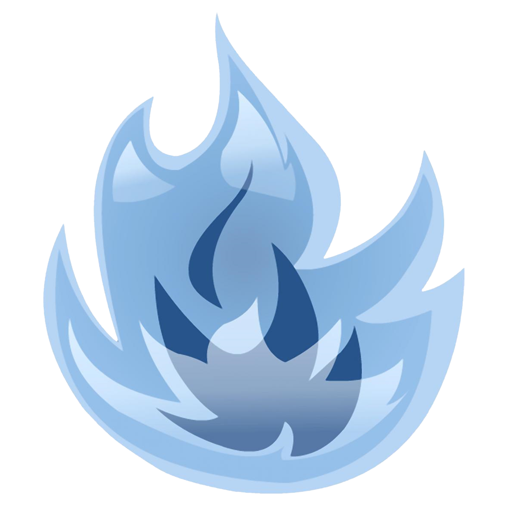 Blue flames png transparent clipart #34527.