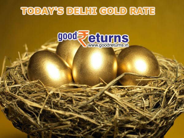 Todays Gold Rate in Delhi, 22 & 24 Carat Gold Price on 23rd.