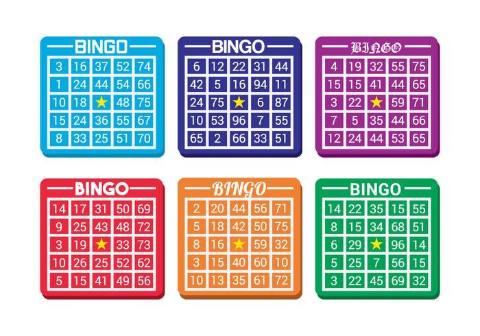 Bingo Card Vector.