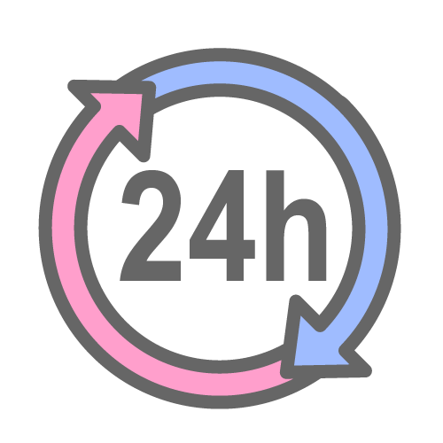 24 hours clipart.